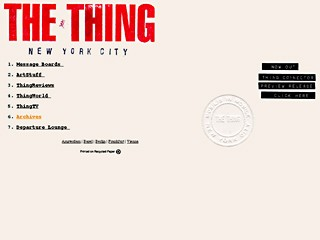 Wolfgang Staehle «The Thing»