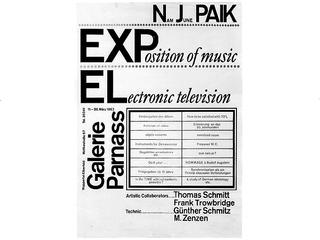 Nam June Paik «Exposition of Music – Electronic Television» | Leaflet printed for the show