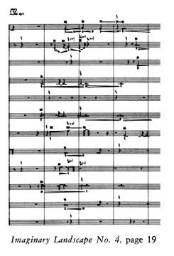 John Cage «Imaginary Landscape No. 4»