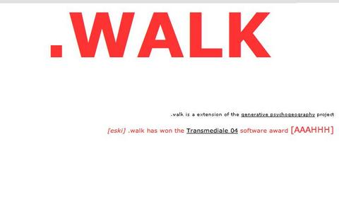 socialfiction.org »dot.walk« | dot-walk