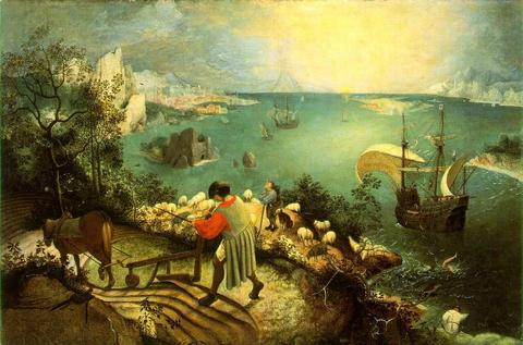 Pieter Bruegel «Landscape with the Fall of Icarus»