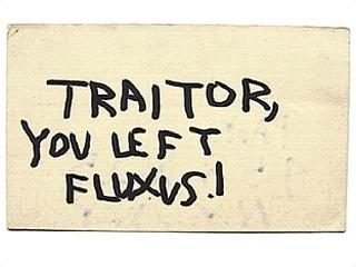 Nam June Paik «Traitor, you left fluxus (Postcard to Nam June Paik)»