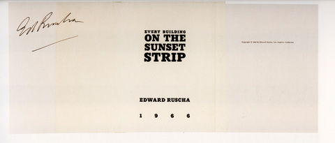 Ed Ruscha »Every Building on the Sunset Strip«