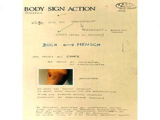 Valie Export «Body Sign Action»